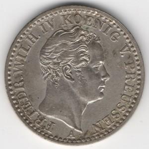 Prussia 1/6 Thaler reverse
