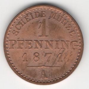 Prussia 1 Pfennig obverse