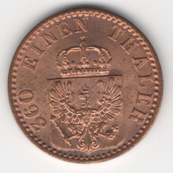 Prussia 1 Pfennig reverse