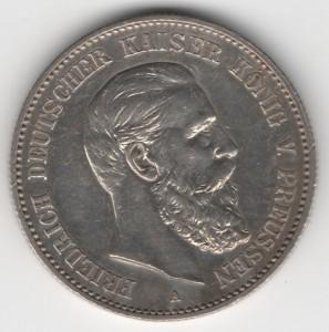 Prussia 2 Mark Friedrich reverse