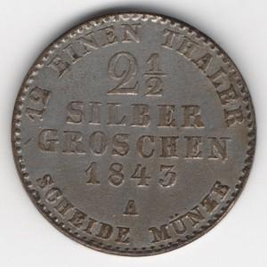 Prussia 2 1/2 Silbergroschen obverse
