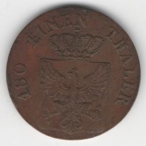 Prussia 2 Pfennige reverse