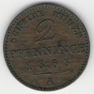 Prussia 2 Pfennige obverse