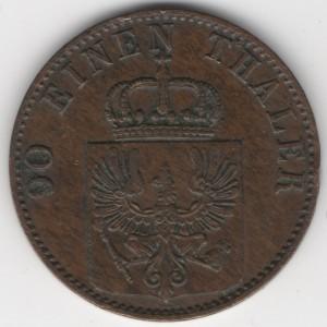 Prussia 4 Pfennige reverse