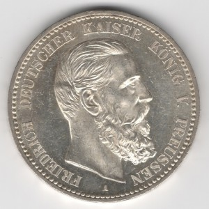 Prussia 5 Mark Friedrich reverse