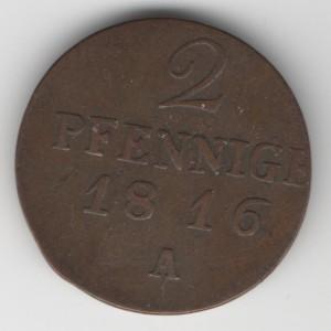 Brandenburg 2 Pfennige obverse