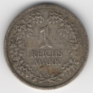 Weimar Republic coins 1 Mark