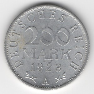 Weimar Republic coins 200 Mark