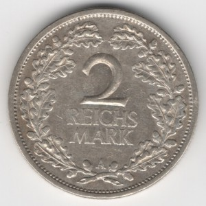 Weimar Republic coins 2 Mark