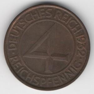 4 Pfennig obverse