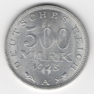 Weimar Republic coins 500 Mark