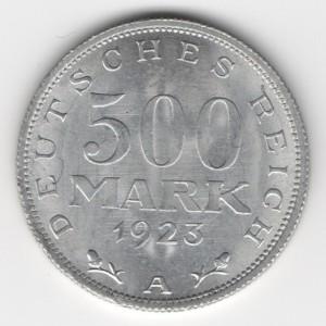 Weimar Republic 500 Mark obverse