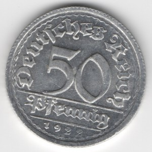 50 Pfennig German Empire
