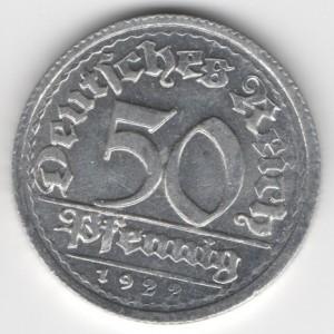 50 Pfennig obverse
