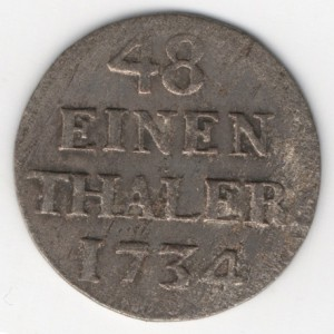 Prussia 1/48 Thaler obverse