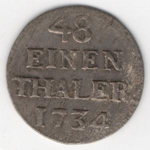 Prussia 1/48 Thaler obverse
