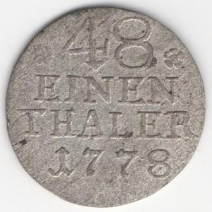 Prussia 1/48 Thaler