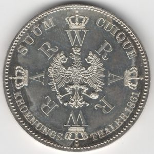 Prussia 1 Thaler obverse
