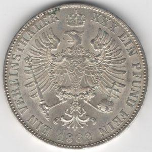 Prussia 1 Thaler obverse