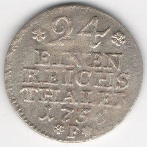 Prussia 1/24 Thaler 1756 F obverse