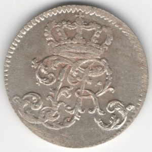 Prussia 1/24 Thaler 1756 F reverse