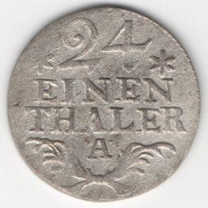 Prussia 1/24 Thaler 1782 A obverse