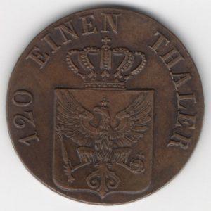 Prussia 3 Pfennige reverse