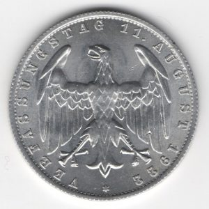 Weimar Republic 3 Mark 1922 A reverse
