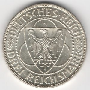 Weimar Republic coins 3 Mark