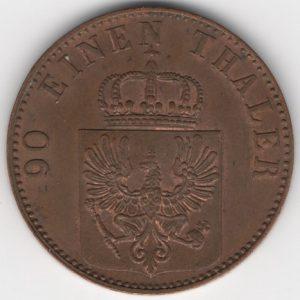 Prussia 4 Pfennige 1858 reverse