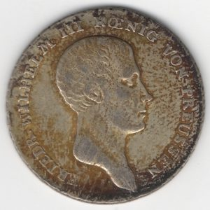 Prussia 1/6 Thaler reverse