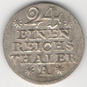 Prussia 1/24 Thaler 1753 A obverse