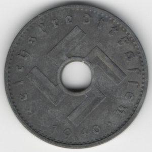 Reichskreditkassen 10 Reichspfennig 1940 A reverse