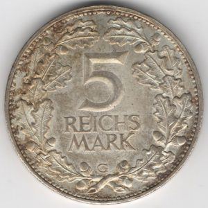 Weimar Republic coins 5 Mark