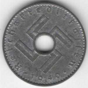 Reichskreditkassen 5 Reichspfennig 1940 A reverse