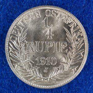 German East Africa 1/4 Rupee obverse