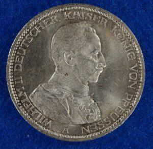 Prussia 5 Mark Wilhelm reverse
