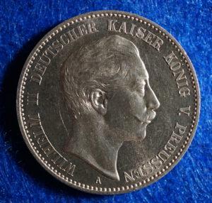 Prussia 2 Mark Wilhelm reverse